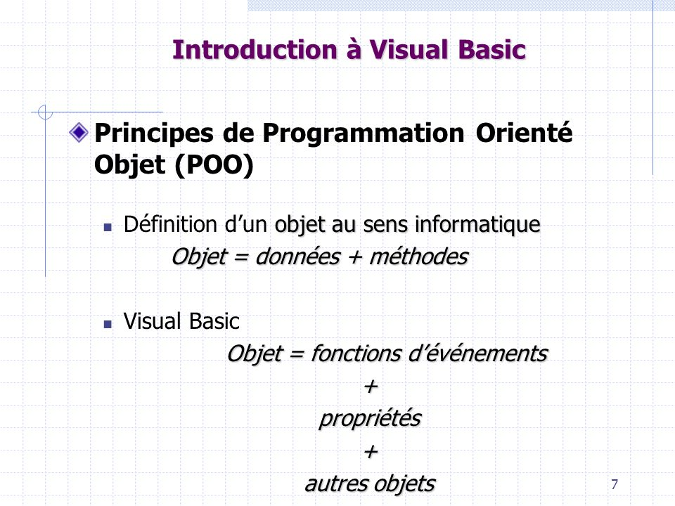 Introduction à Visual Basic