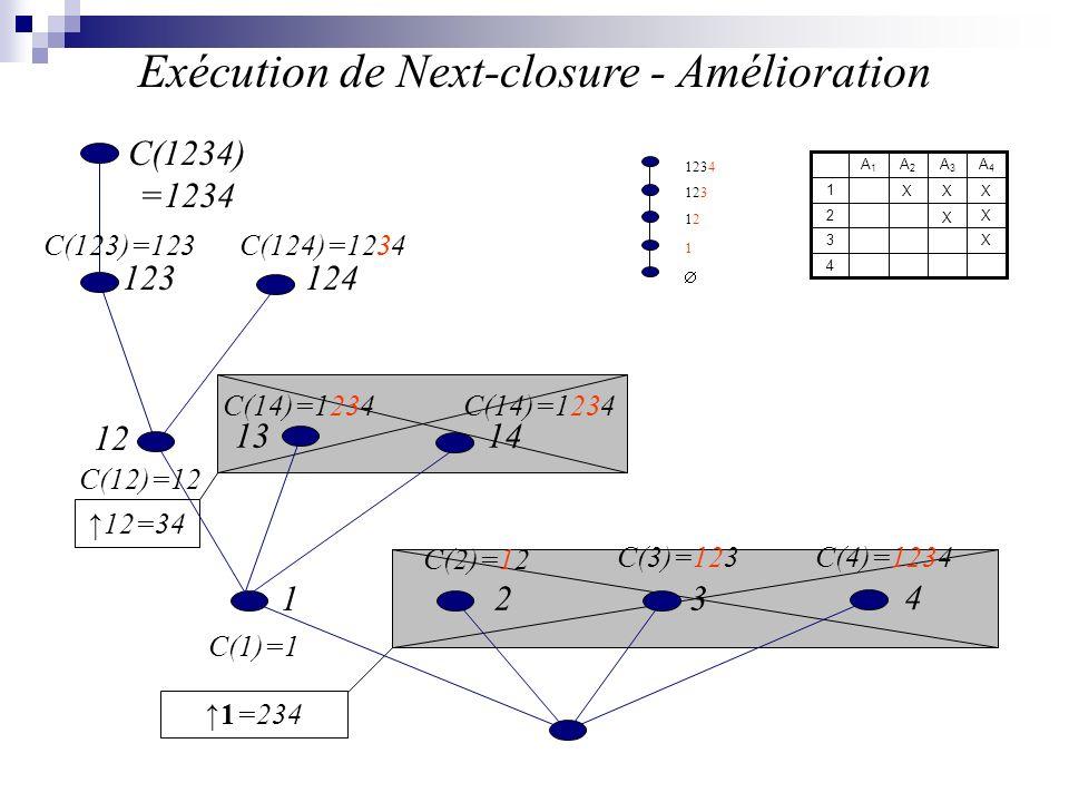 Exécution de Next-closure - Amélioration