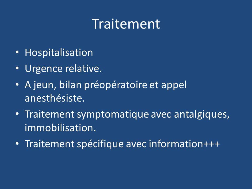 Traitement Hospitalisation Urgence relative.