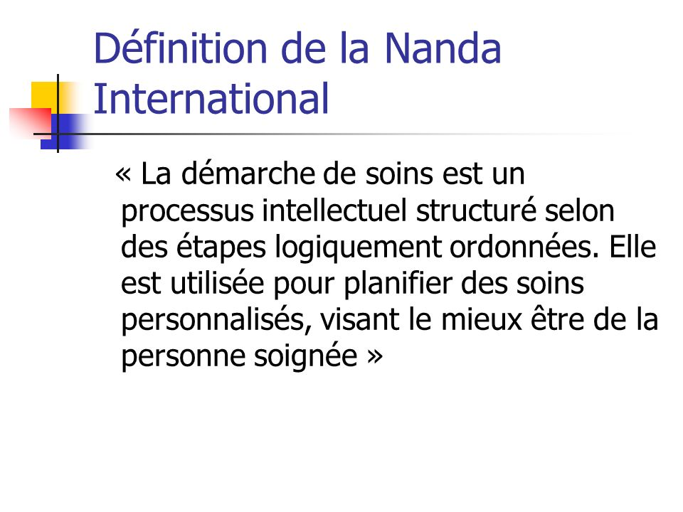 Définition de la Nanda International