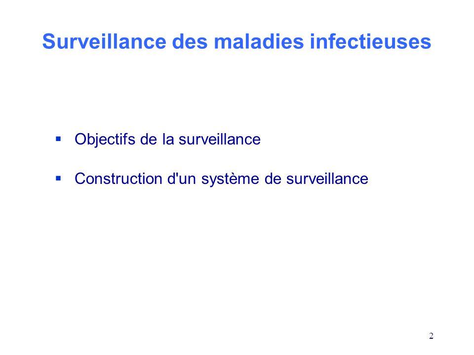 Surveillance des maladies infectieuses