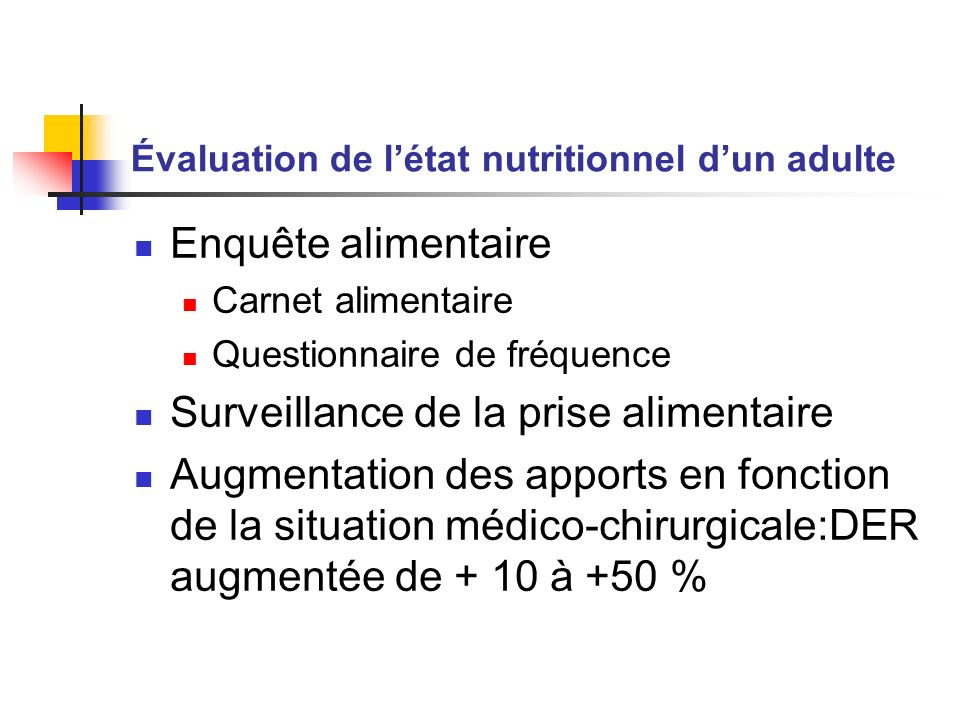 Évaluation de l'état nutritionnel d'un adulte