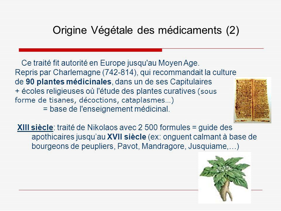Origine Végétale des médicaments (2)