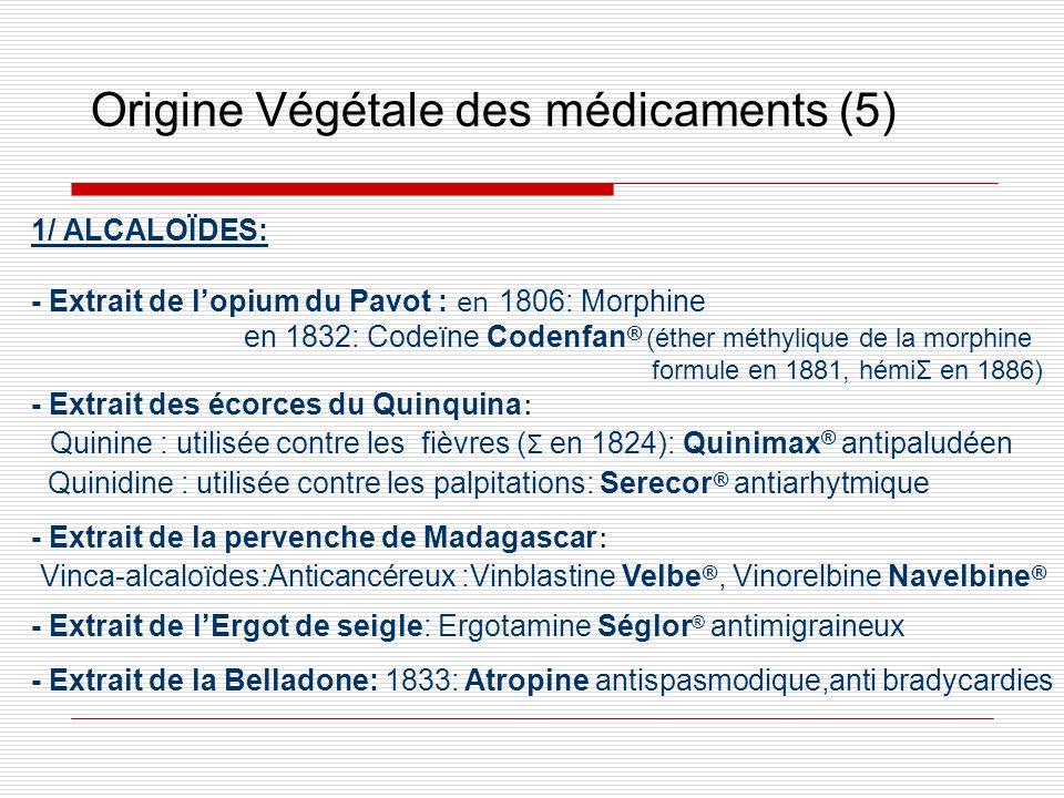 Origine Végétale des médicaments (5)