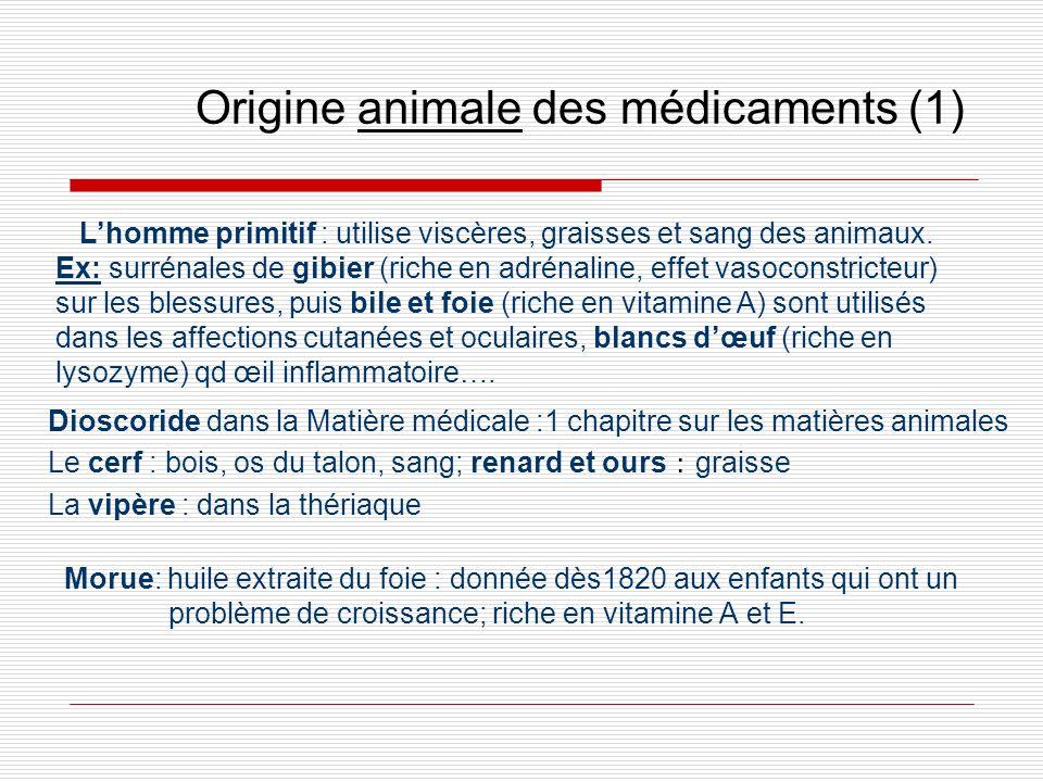 Origine animale des médicaments (1)