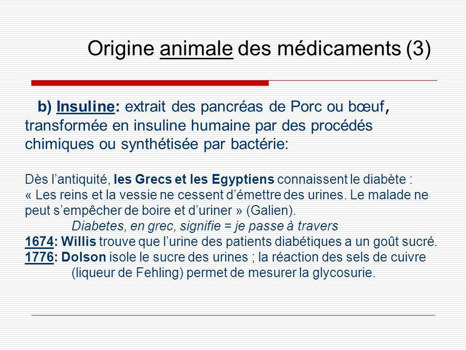 Origine animale des médicaments (3)