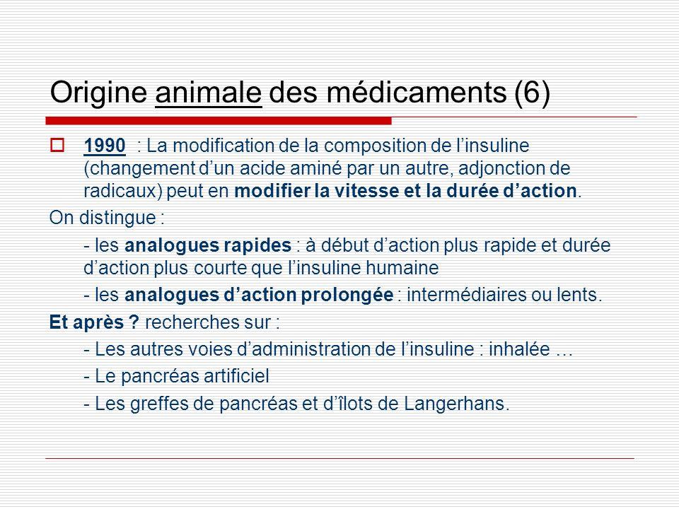 Origine animale des médicaments (6)