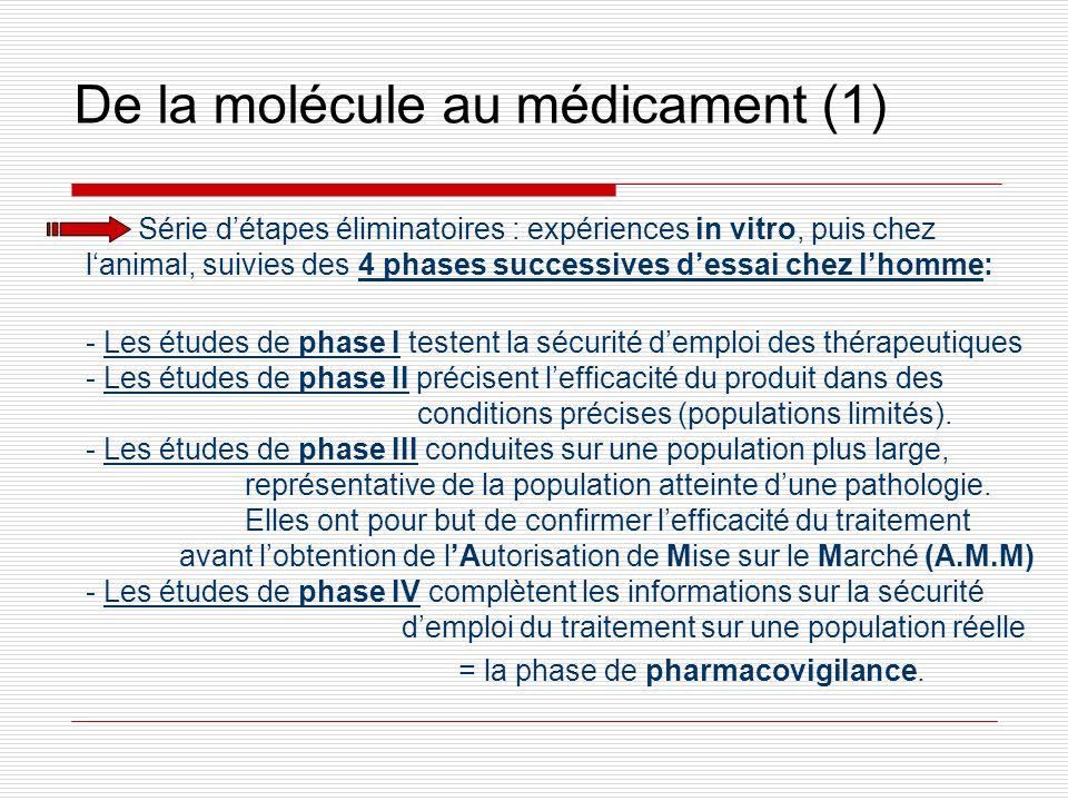 De la molécule au médicament (1)