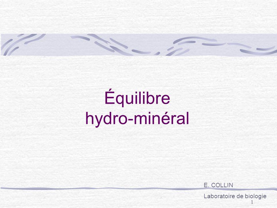 Équilibre hydro-minéral