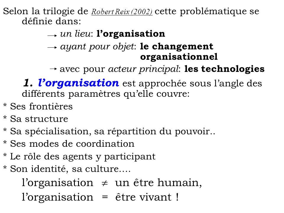 l'organisation = être vivant !