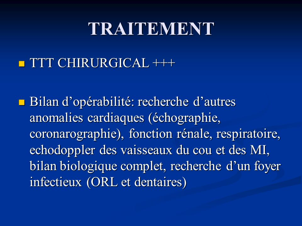 TRAITEMENT TTT CHIRURGICAL +++