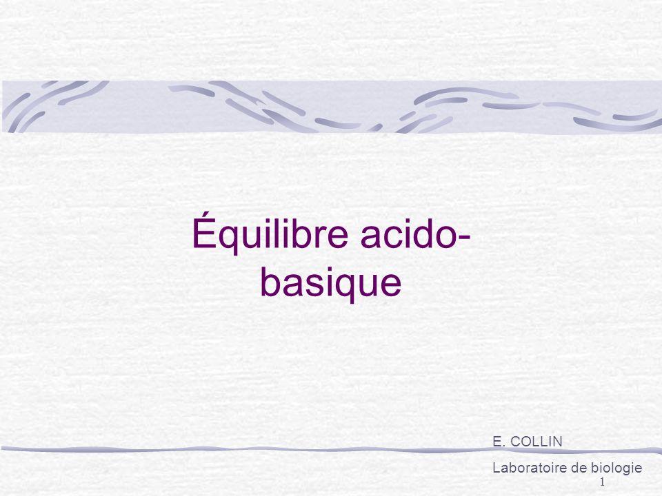 Équilibre acido-basique
