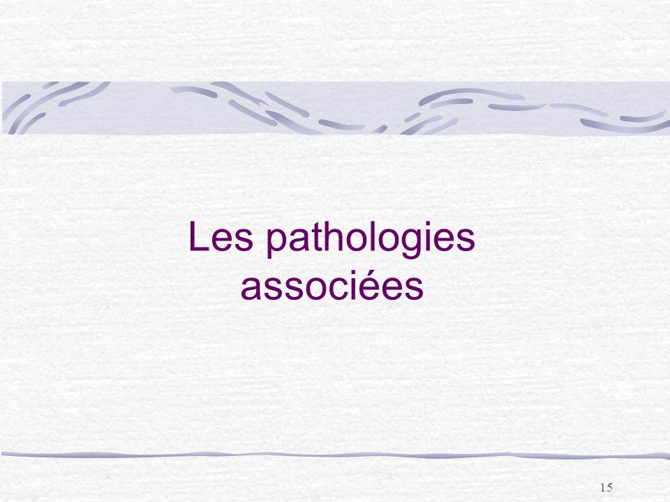 Les pathologies associées