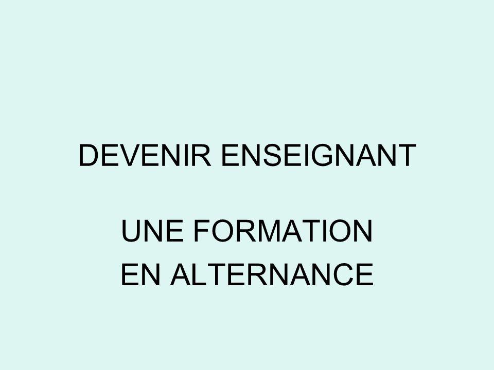 UNE FORMATION EN ALTERNANCE