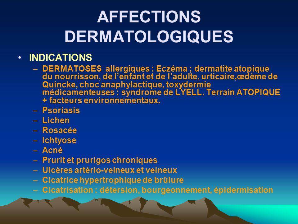 AFFECTIONS DERMATOLOGIQUES