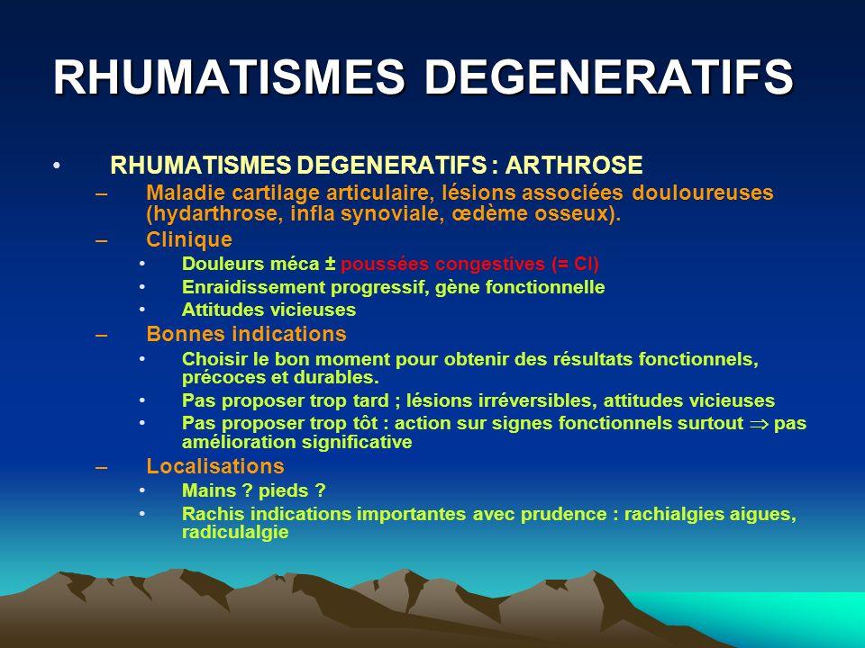 RHUMATISMES DEGENERATIFS