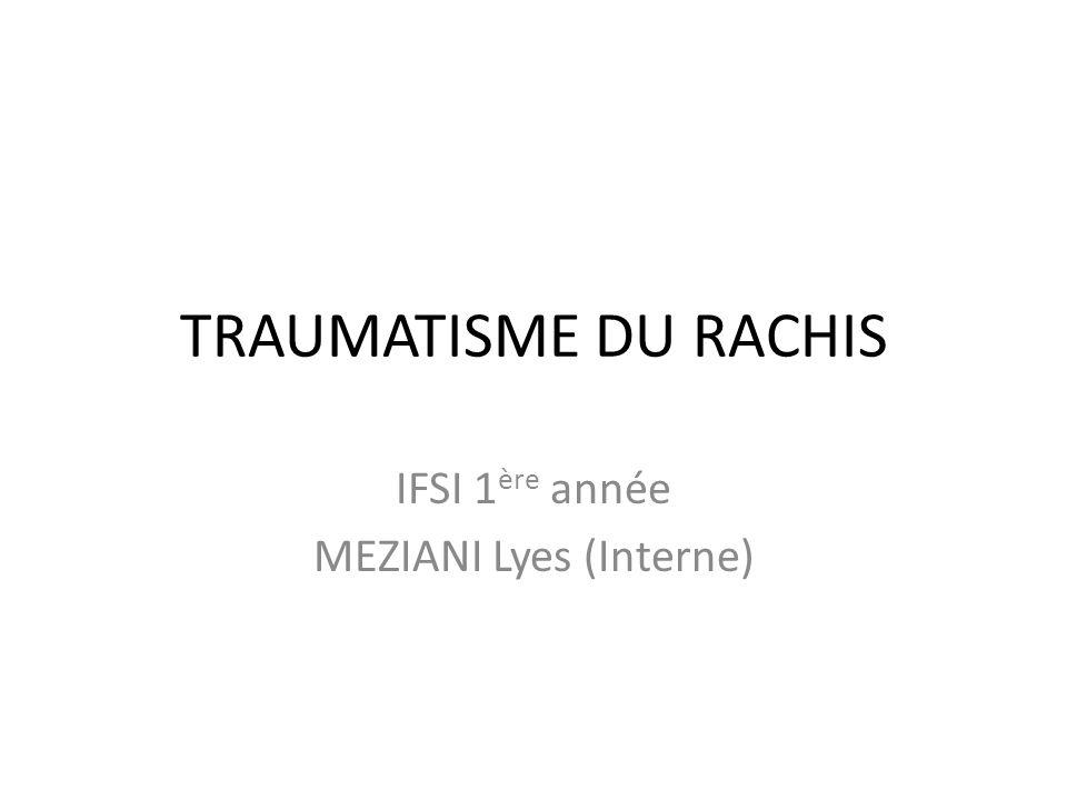 IFSI 1ère année MEZIANI Lyes (Interne)