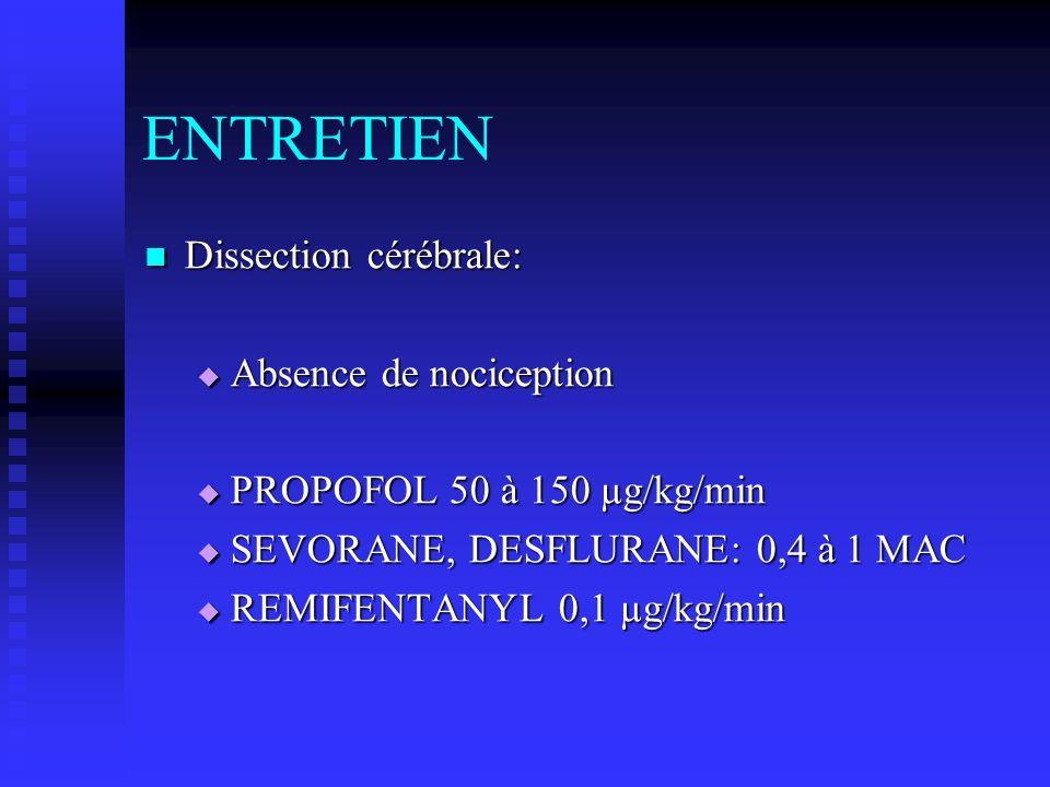 ENTRETIEN Dissection cérébrale: Absence de nociception