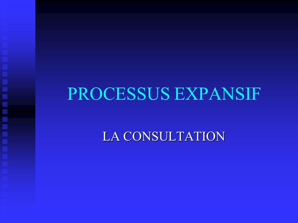 PROCESSUS EXPANSIF LA CONSULTATION