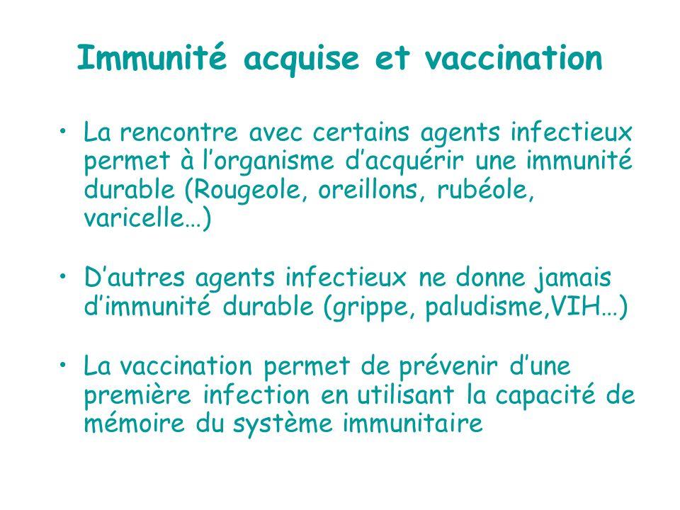 Immunité acquise et vaccination