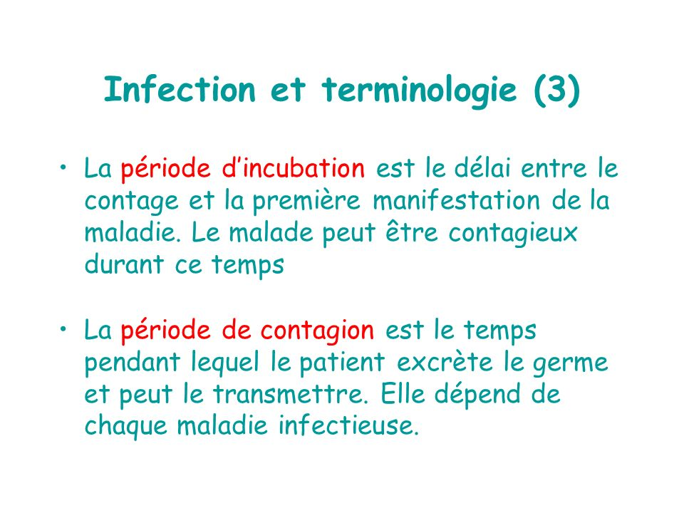 Infection et terminologie (3)