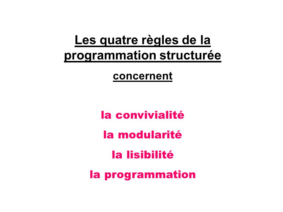 Les quatre règles de la programmation structurée