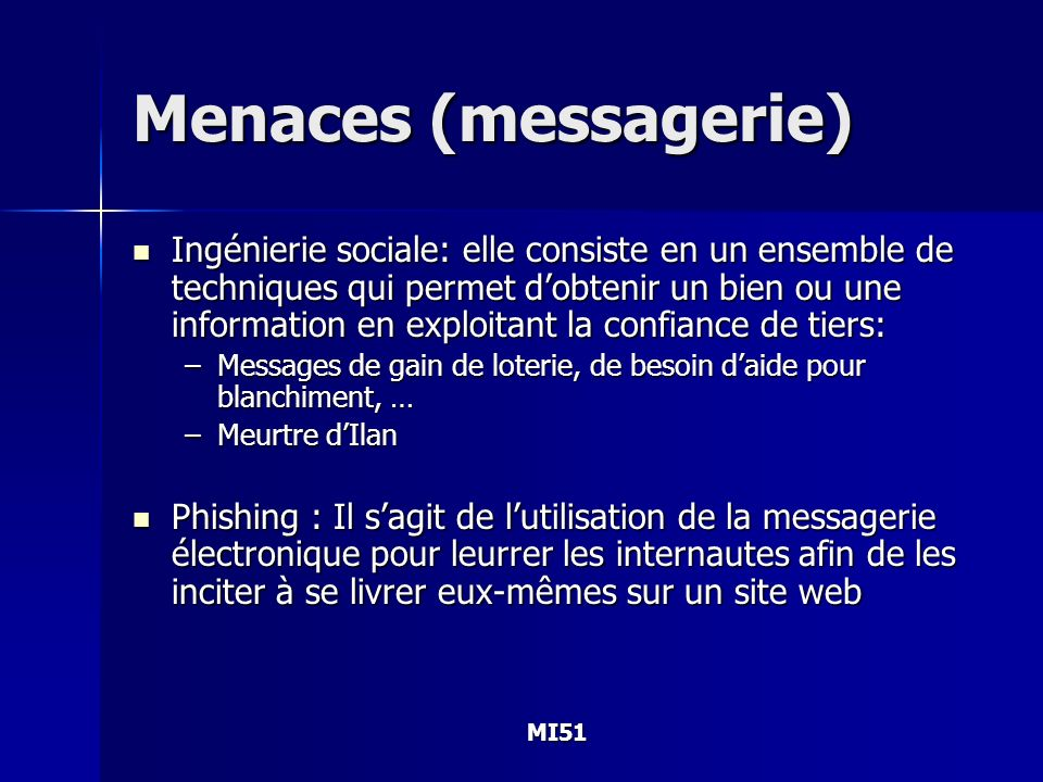 Menaces (messagerie)