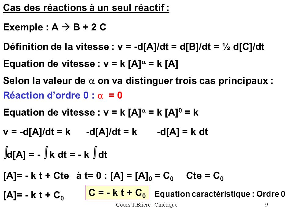 Cours T.Briere - Cinétique
