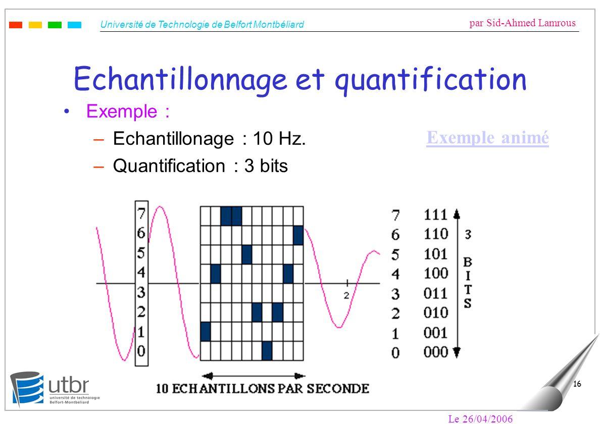 Echantillonnage et quantification