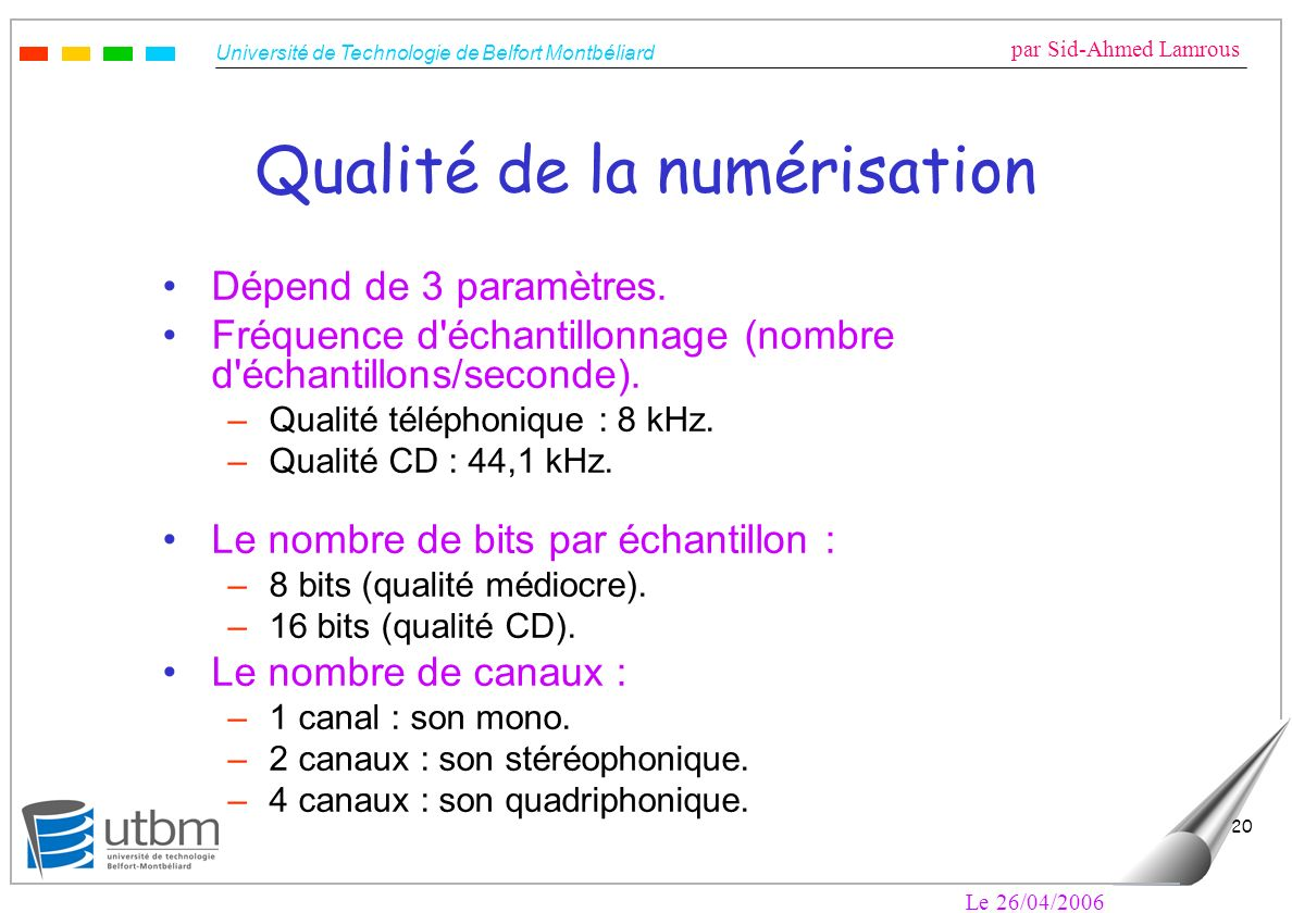 Qualité de la numérisation