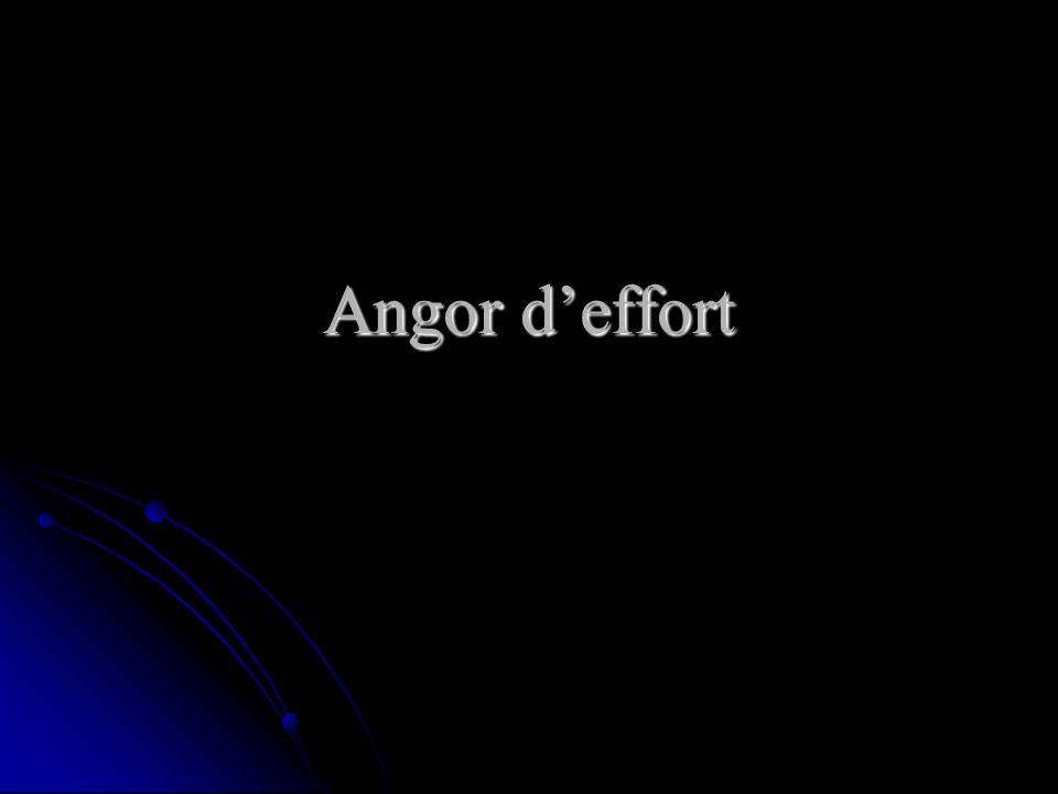 Angor d'effort