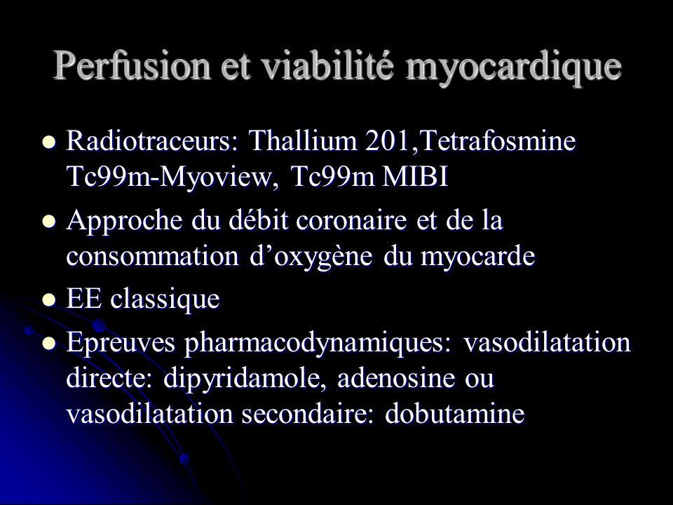 Perfusion et viabilité myocardique