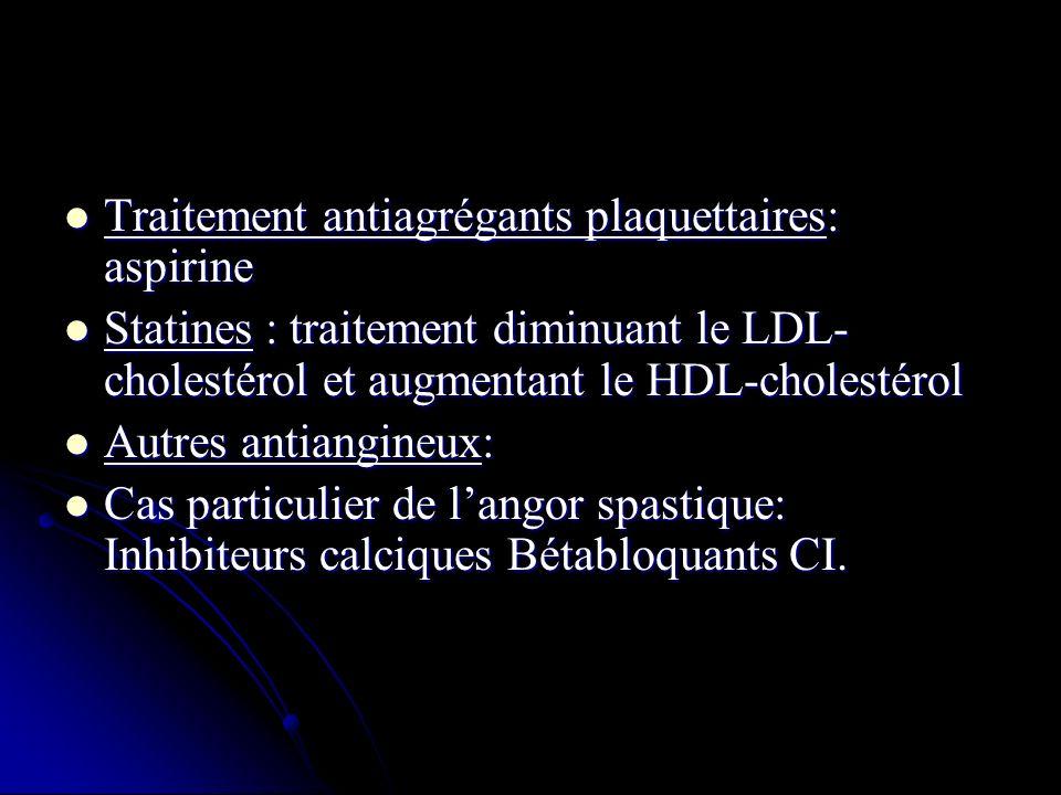 Traitement antiagrégants plaquettaires: aspirine
