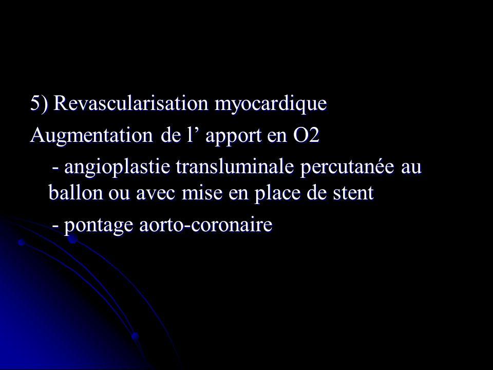 5) Revascularisation myocardique