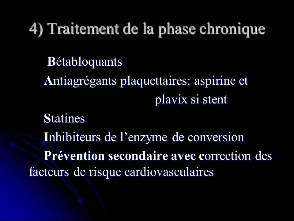 4) Traitement de la phase chronique