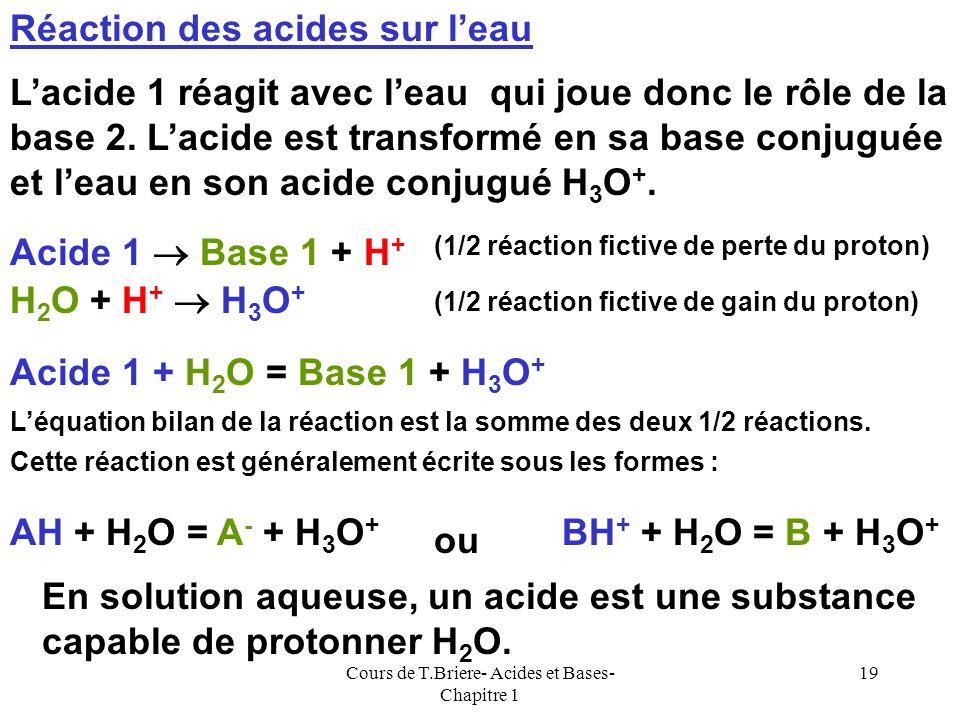 Cours de T.Briere- Acides et Bases- Chapitre 1