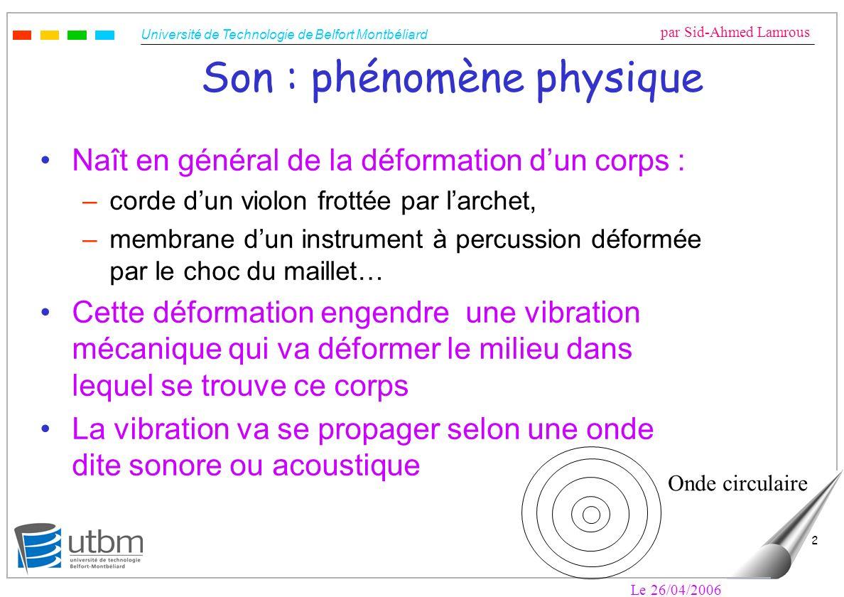 Son : phénomène physique