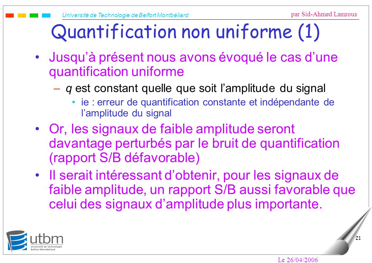 Quantification non uniforme (1)