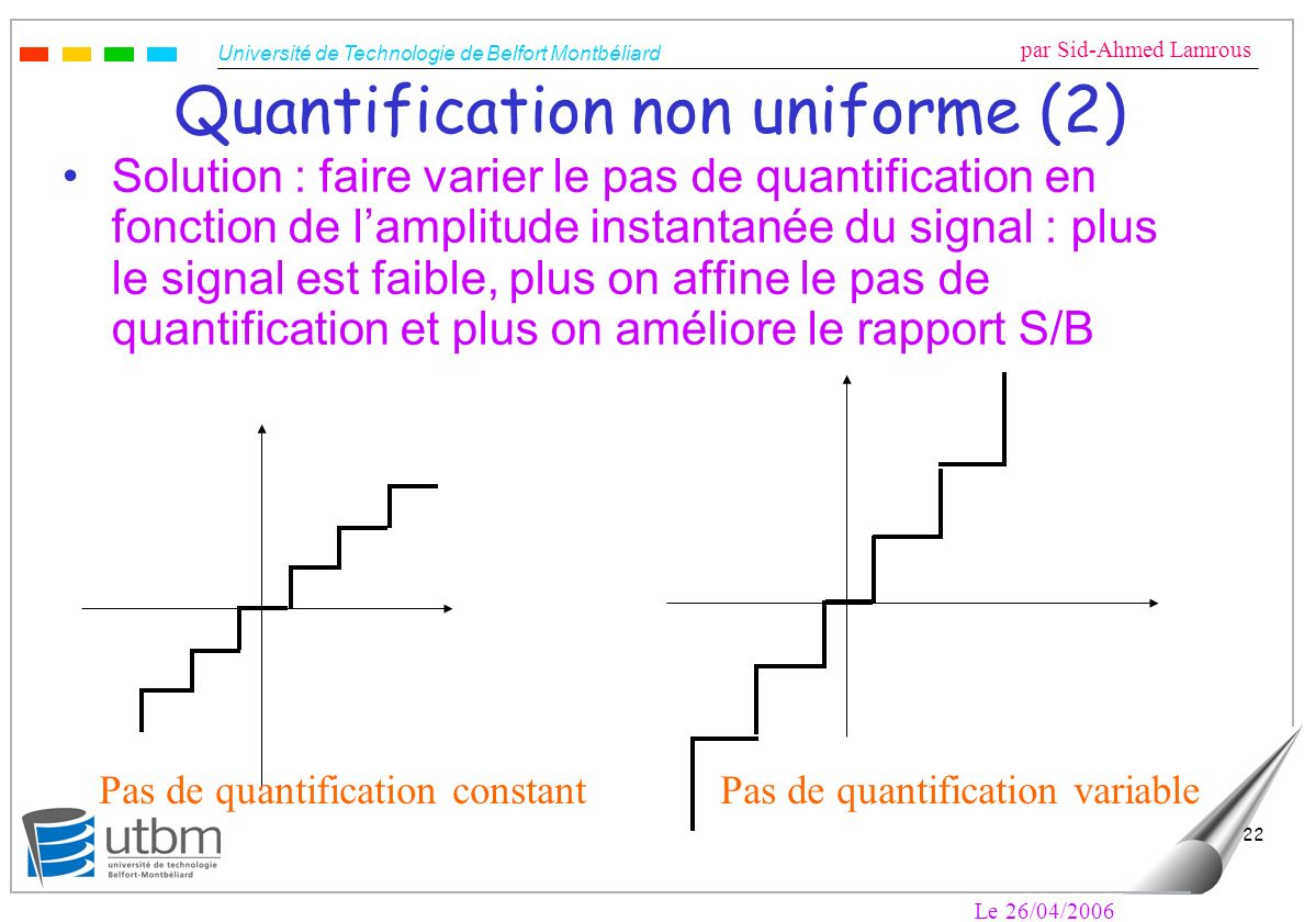 Quantification non uniforme (2)