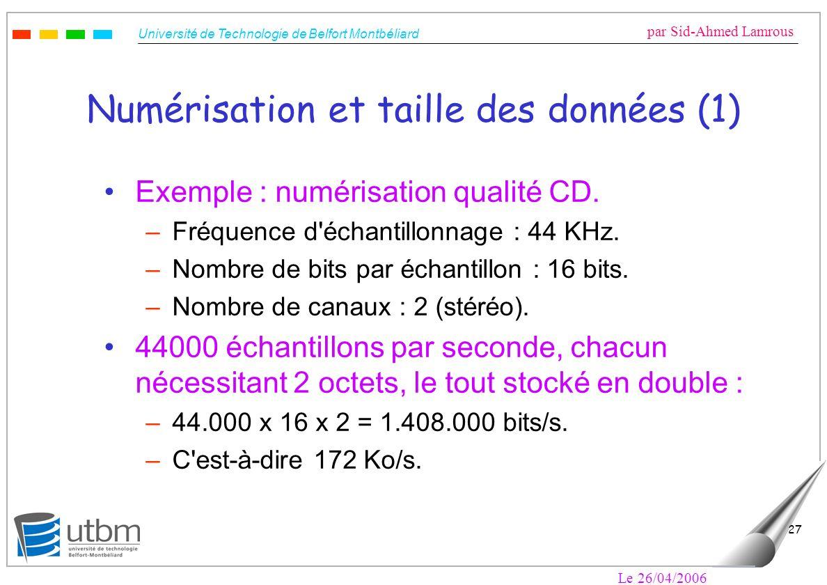 Numérisation et taille des données (1)