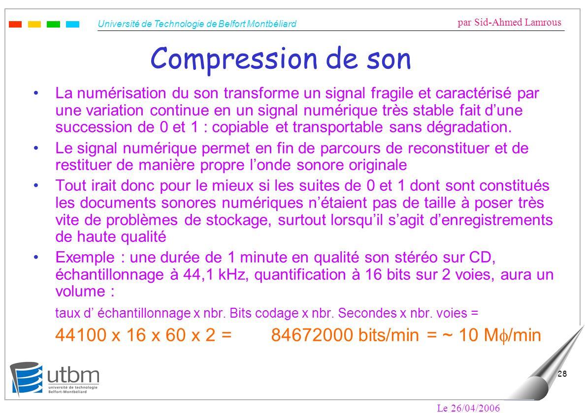 Compression de son