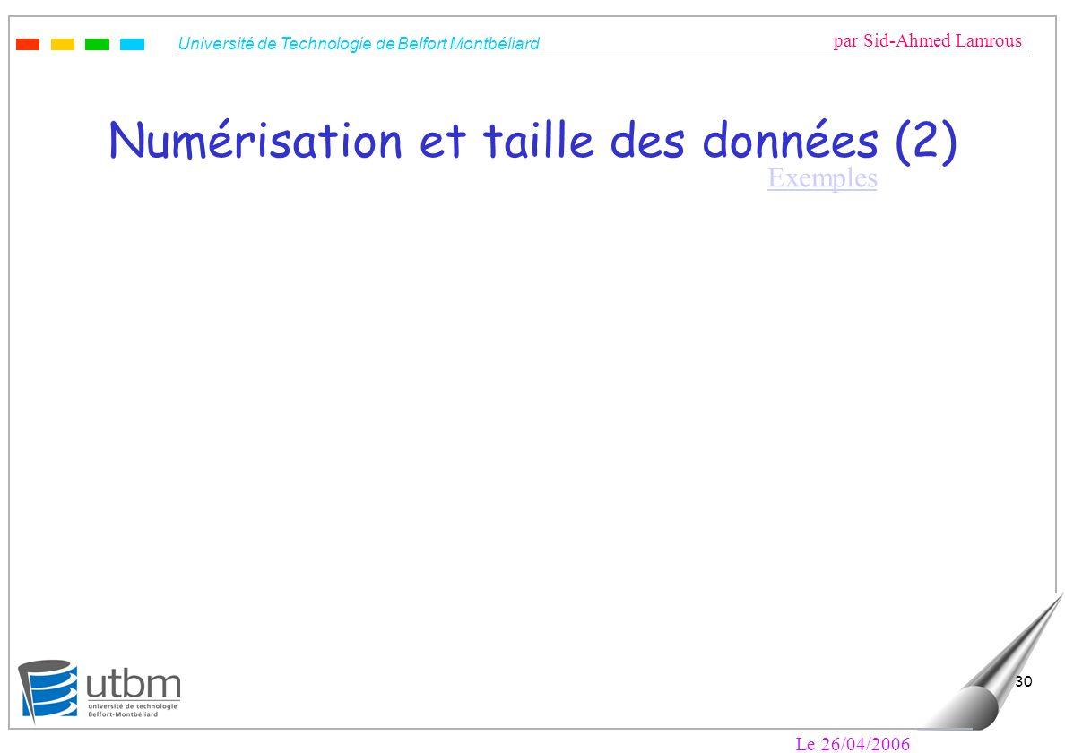 Numérisation et taille des données (2)