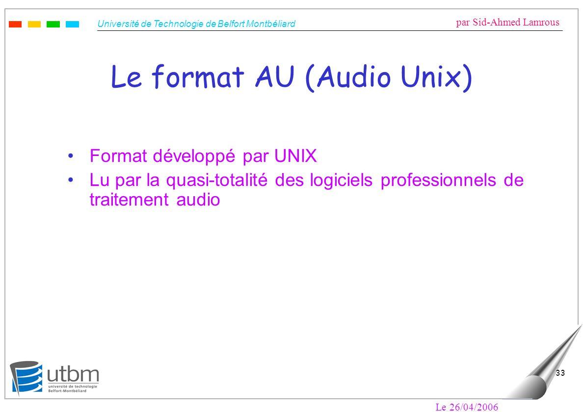 Le format AU (Audio Unix)