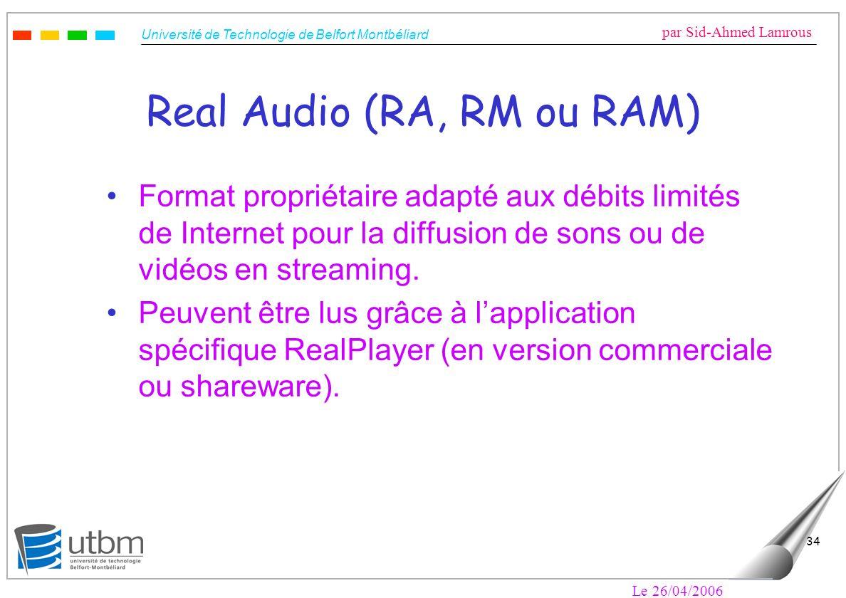 Real Audio (RA, RM ou RAM)