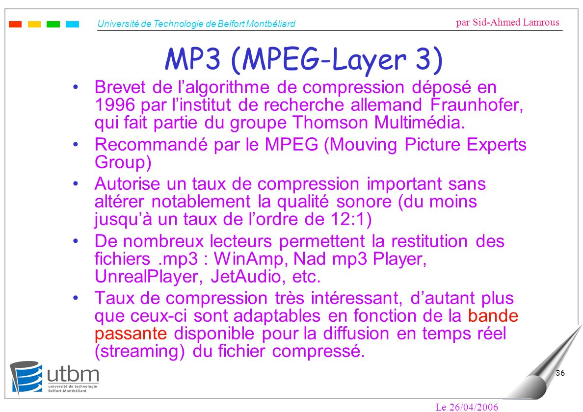 MP3 (MPEG-Layer 3)
