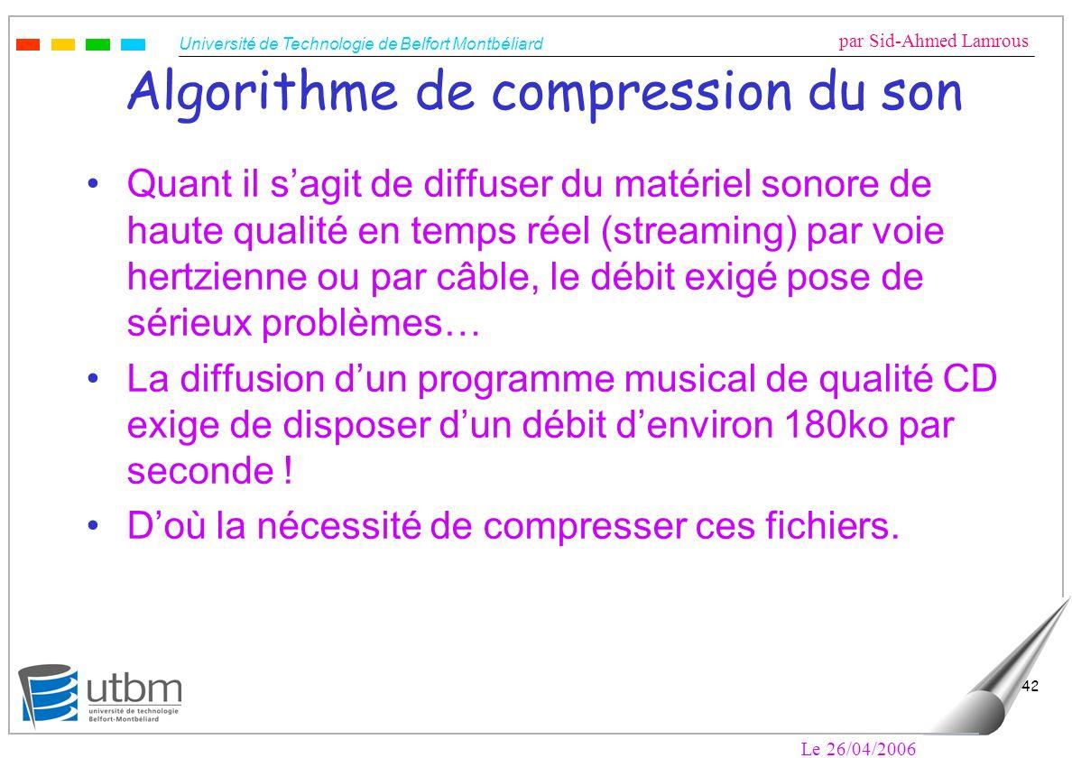 Algorithme de compression du son