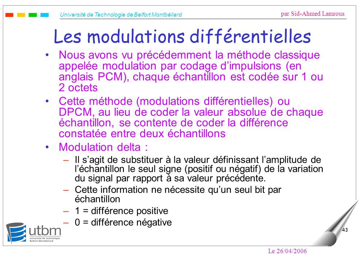 Les modulations différentielles