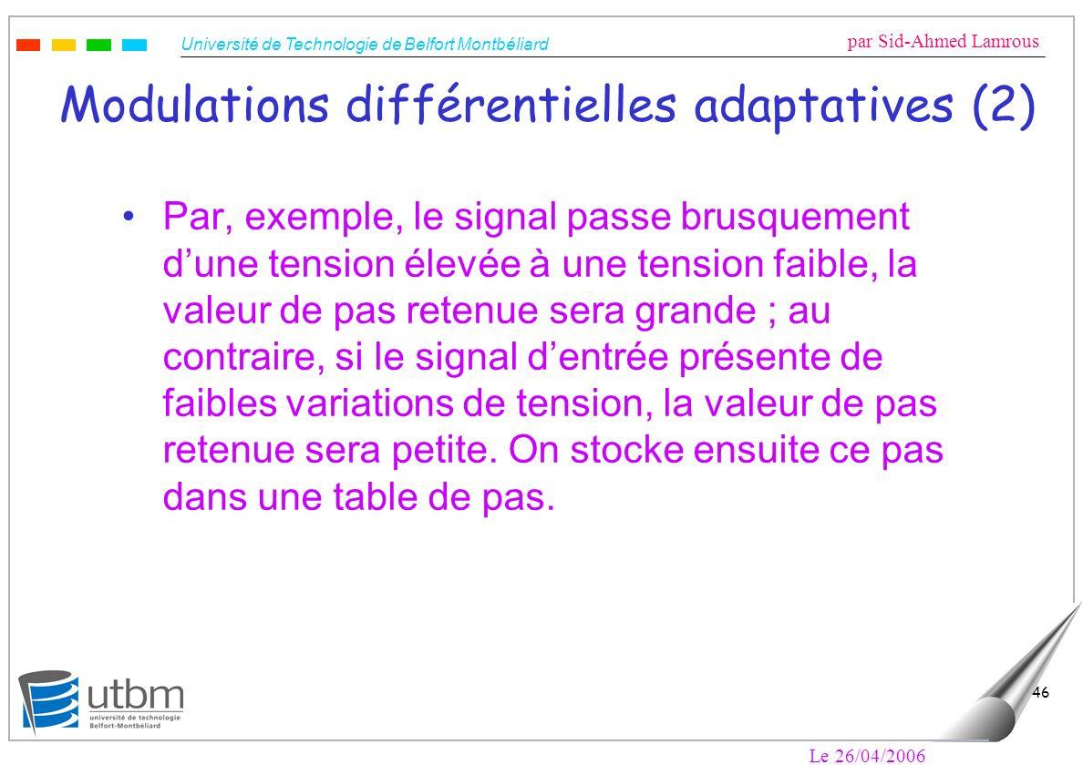 Modulations différentielles adaptatives (2)