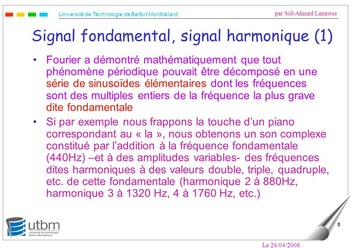Signal fondamental, signal harmonique (1)