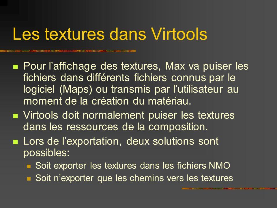 Les textures dans Virtools